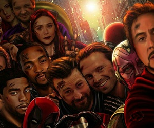 Avengers, Marvel, and selfie image
