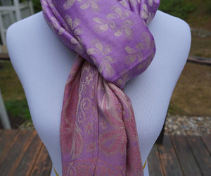 etsy, pink scarf, and fashion accessories image