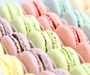 colourful, dessert, and macaroons image