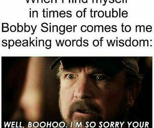 supernatural, bobby singer, and funny image