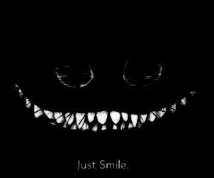 creepy, dark, and smile image