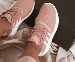 adidas, blush, and sneakers image