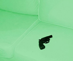 green and weapon image
