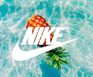 nike, water, and pineapple image