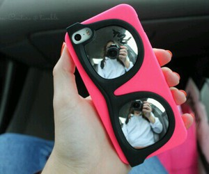 pink, case, and iphone image