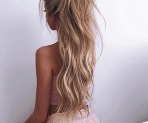 blonde, pink, and curls image
