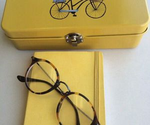 aesthetic, yellow, and glasses image