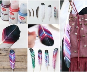 feather, diy, and creativity image
