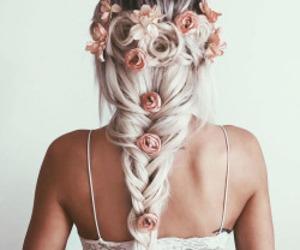 beautiful, braid, and hair image