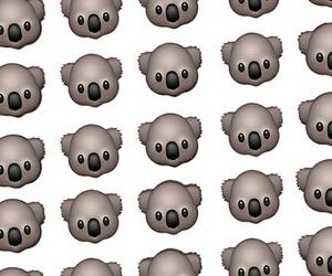 Koala, wallpaper, and emoji image