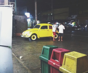 beetles, vintage, and yellow image
