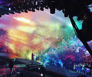 coldplay, beautiful, and concert image