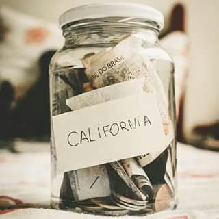 california, money, and trip image