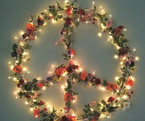peace, flowers, and light image