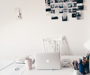 room, white, and study image