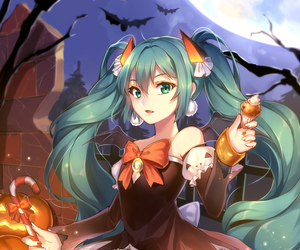 Halloween, vocaloid, and hatsune miku image