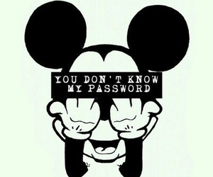 wallpaper, password, and mickey image