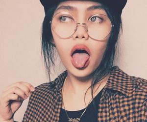 cap, eyebrows, and eyeglasses image
