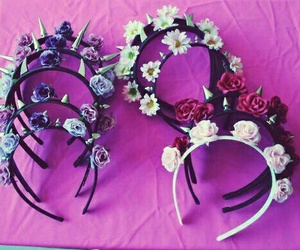flowers, accessories, and headband image