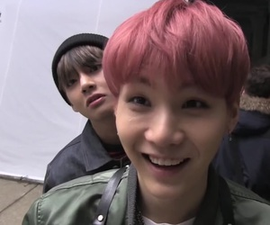 bts, suga, and v image