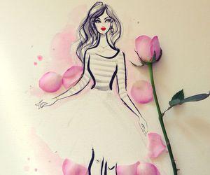 art, drawings, and dress image