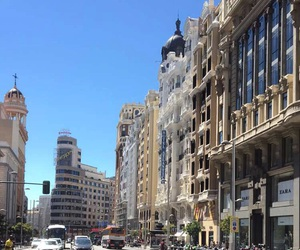 city, madrid, and shopping image