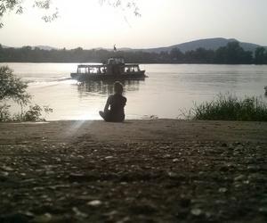 alone, danube, and nature image