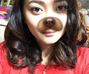 dog, filter, and girl image