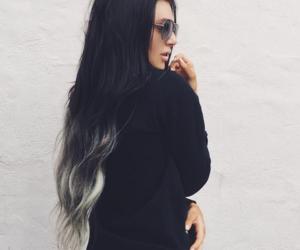 black hair, girl, and grunge image