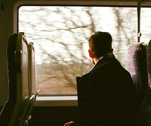 boy, train, and vintage image