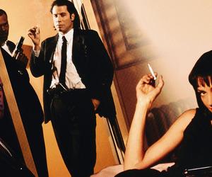 pulp fiction, uma thurman, and John Travolta image