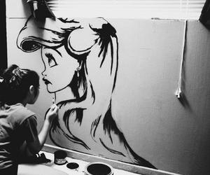 ariel, girl, and art image