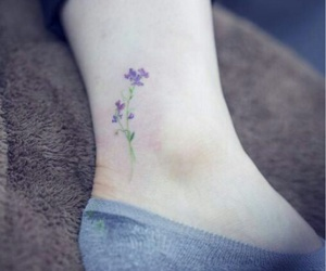 flowers, tattoo, and tatoo image