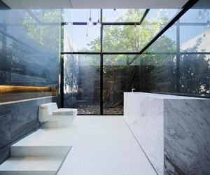 bathroom, creative, and glass image