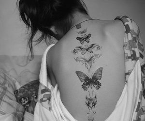 butterfly, tattoo, and Chica image