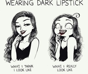 black, funny, and lips image