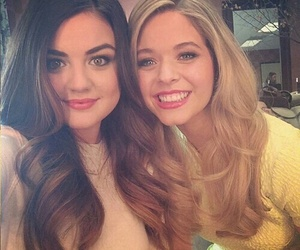 lucy hale, pretty little liars, and sasha pieterse image