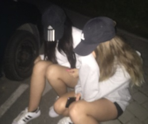 adidas, best friends, and grunge image