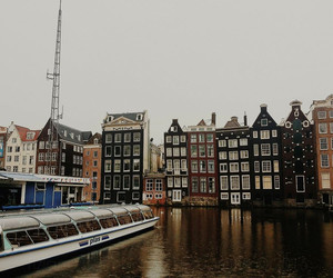 aesthetic, amsterdam, and boat image