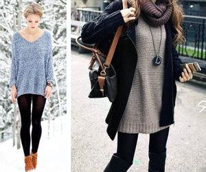 black, leggins, and grey image