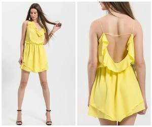 dress, summer, and yellow image