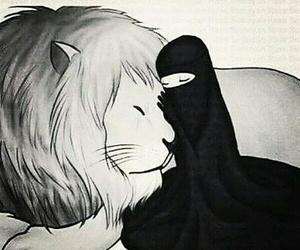 girl, Leo, and müslimah image