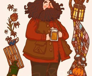 harry potter, hagrid, and rubeus hagrid image