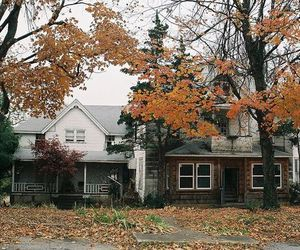 autumn, house, and vintage image