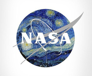 nasa, space, and art image