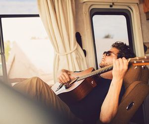 chill, guitar, and music image