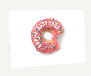 birthday, colourful, and donut image