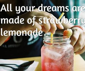 Lyrics, oasis, and strawberry lemonade image