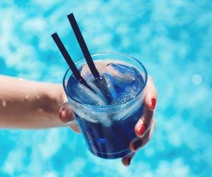 blue and drinks image