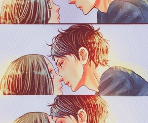hirunaka no ryuusei, kiss, and manga image